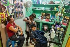 Traditionell typisk barberarepiont på en lokal marknad i Merida, Y Fotografering för Bildbyråer