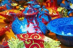 Traditionell ungersk keramik Fotografering för Bildbyråer