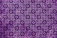 Traditionell utsmyckad portugis D för violett färgrik typisk tappning Royaltyfri Bild
