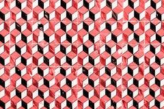 Traditionell utsmyckad portugisisk dekorativ tegelplattaazule för röd tappning Royaltyfria Bilder