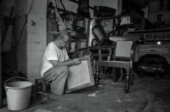 Traditionell väva stol Royaltyfri Foto