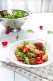 Traditionell vegetarisk mat för italiensk angiolettifritti arkivfoton