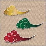 Traditionell vektorbakgrund för kinesiskt moln Royaltyfri Bild