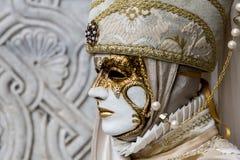 Traditionell venetian karnevalmaskering Royaltyfri Bild