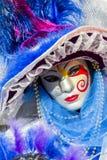 Traditionell venetian karnevalmaskering Arkivbilder