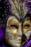 Traditionell venetian karnevalmaskering Fotografering för Bildbyråer