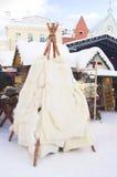 traditionell vinter för forntida kläder arkivbild