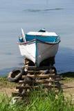 Traditionell wood fiskebåt Arkivbild