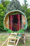 Traditionell zigensk husvagn Fotografering för Bildbyråer