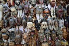 Traditionella afrikanmaskeringar Arkivfoton