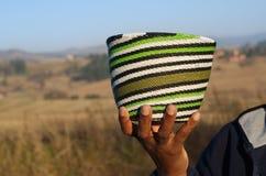 Traditionella afrikanska korgar Arkivbilder