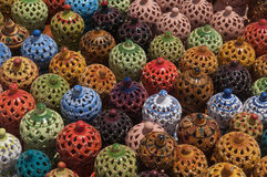 Traditionella arabiska keramiska lampor Royaltyfri Bild