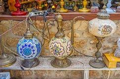 Traditionella arabiska lampor Arkivbild