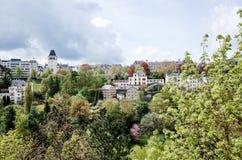 Traditionella arkitekturbyggnader i Luxembourg, Europa Royaltyfria Foton