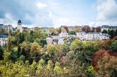 Traditionella arkitekturbyggnader i Luxembourg, Europa Royaltyfri Bild