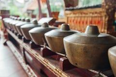 Traditionella balinesemusikinstrument, Ubud, Bali arkivbilder