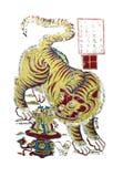 Traditionella bilder för nytt år - tigern Royaltyfria Bilder