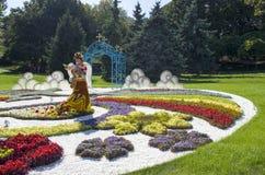 Traditionella 59 blommar utställningen, 2014 i Kiev, Ukraina Arkivbild