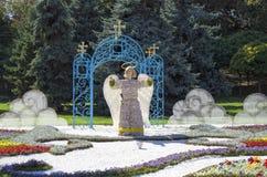 Traditionella 59 blommar utställningen, 2014 i Kiev, Ukraina Royaltyfria Bilder
