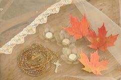 Traditionella bröllopbeståndsdelar Arkivbild