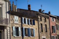 Traditionella byggnader från söder av Frankrike Arkivfoton