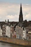 Traditionella byggnader i Maastricht, Nederländerna Arkivbild