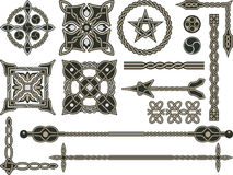 traditionella celtic element Arkivfoto