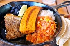 Traditionella Costa Rican Casado royaltyfri foto