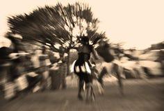 Traditionella dansare, abstrakt begrepp, Afrika Royaltyfri Foto
