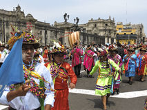 Traditionella dansare Peru Royaltyfria Bilder