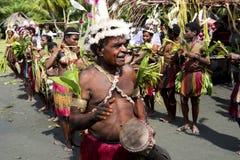Traditionella danser för beröm i Papua Nya Guinea Royaltyfria Foton
