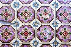 Traditionella dekorativa portugistegelplattor Royaltyfri Foto