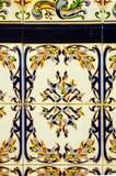 Traditionella dekorativa spanska dekorativa tegelplattor, original- cerami Royaltyfri Bild