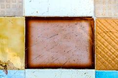 Traditionella dekorativa spanska dekorativa tegelplattor, original- cerami Royaltyfri Foto