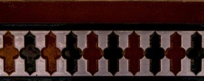 Traditionella dekorativa spanska dekorativa tegelplattor, original- cerami Arkivfoto
