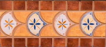 Traditionella dekorativa spanska dekorativa tegelplattor, original- cerami Fotografering för Bildbyråer