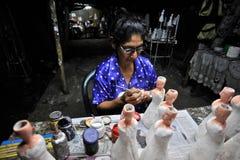 traditionella dockor som målar Royaltyfria Bilder