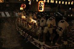 Traditionella egenar som firar historia i Osaka, Japan royaltyfri bild
