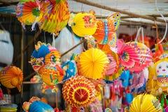 Traditionella färggarneringar i mitt--höst festival av Asien Arkivfoto