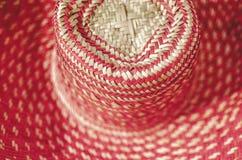 Traditionella färgrika Straw Hat, Nicaragua arkivbild