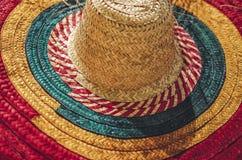 Traditionella färgrika Straw Hat, Nicaragua royaltyfria foton