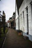 Traditionella facades av holländska hus arkivbilder