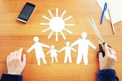 Traditionella familjevärderingar arkivbild