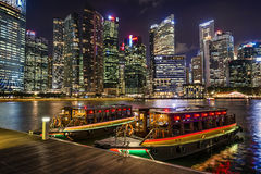 Traditionella fartyg i Singapore Arkivfoto