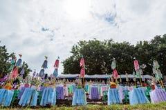 Traditionella festivaler   Fartyglopp varje år 21 till 22 September, Phitsanulok Thailand Fotografering för Bildbyråer