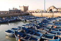 Traditionella fiskebåtar Arkivfoton