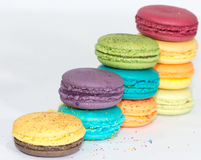 Traditionella franska färgrika makron  Royaltyfri Bild