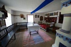 Traditionella gamla hus Arkivfoto