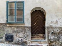 Traditionella gamla hus i hjärtan i Stockholm Sverige Royaltyfria Bilder