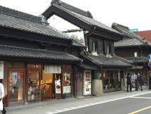 Traditionella gator av Japan Arkivbild